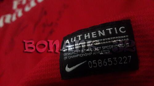 (RARE) Jersey Arsenal Original Plus 8 Tanda Tangan + Box Exclusive