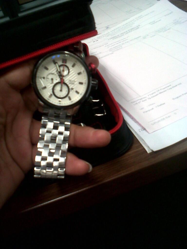 Terjual Jam Tangan Alexandre Christie 6163 Siver White Oringinal 01