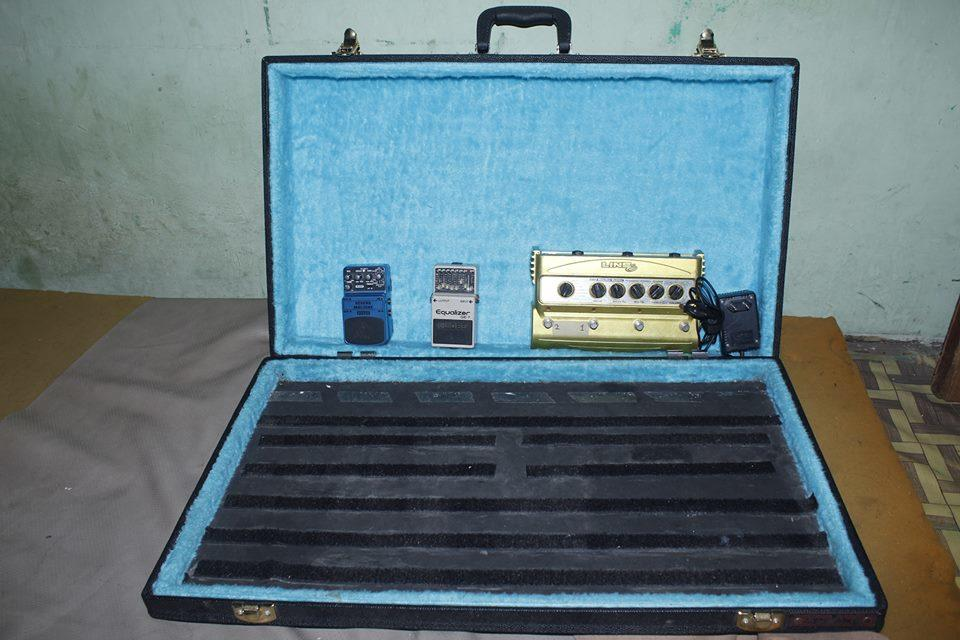WTS:HARDCASE 70X40 , BOSS GE7 EQUALIZER, BEHRINGER RV600 REVERB, LINE6 DM4 DISTORTION