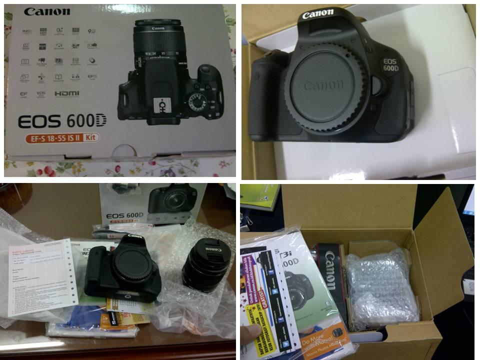 Dijual Canon EOS 600D ( Kit dg Lensa EFS 18-55 IS )