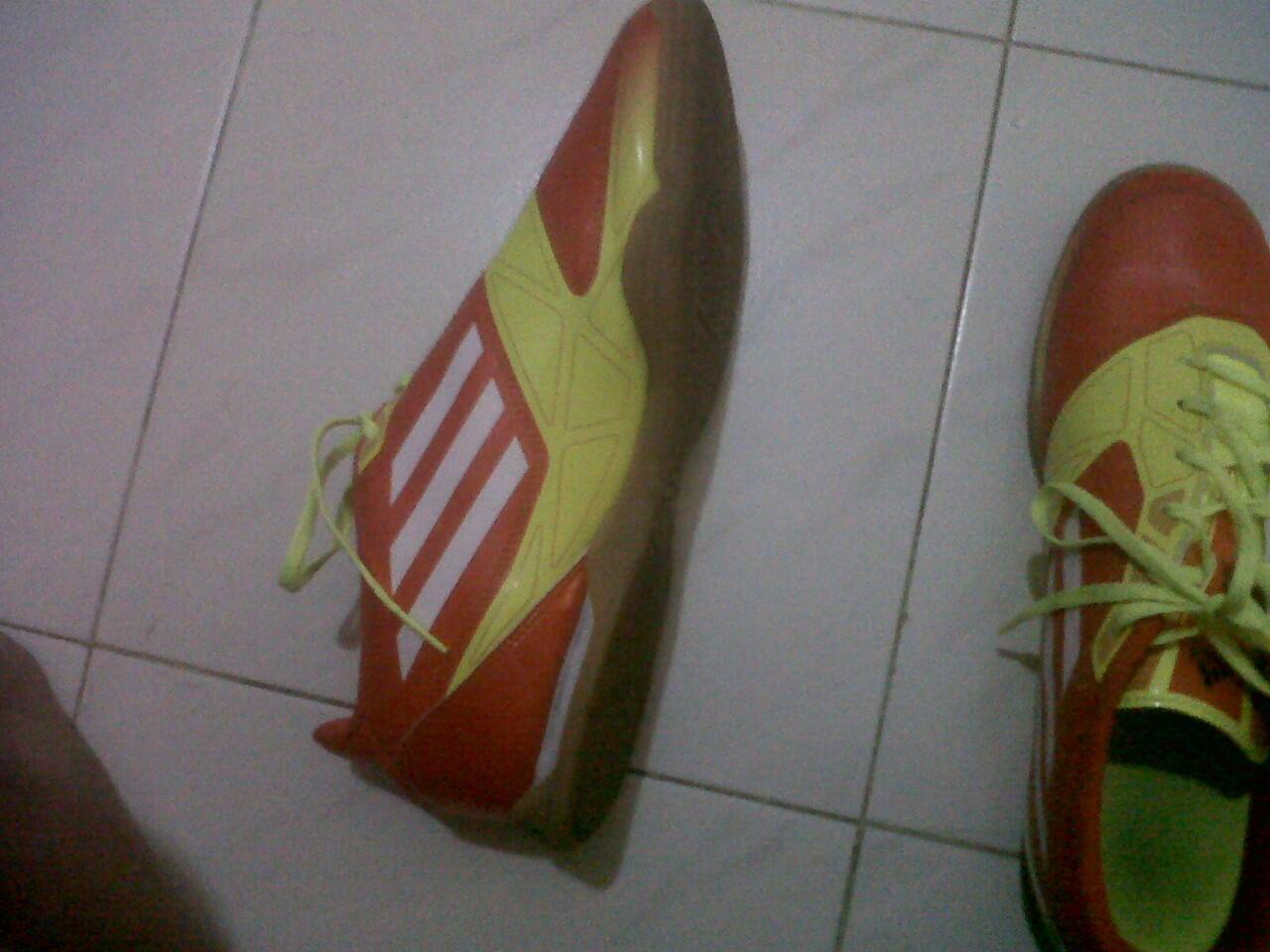 Jual/barter sepatu futsal adidas f5 micoach orange kuning ORI