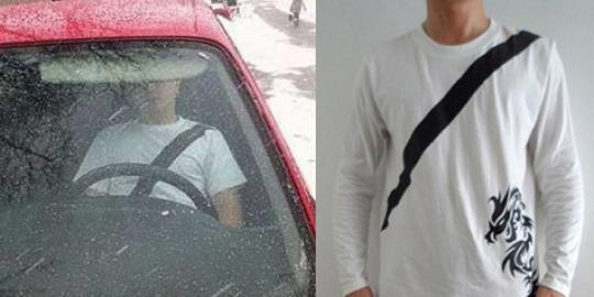 Kaos untuk Menipu polisi saat Mengendarai Mobil
