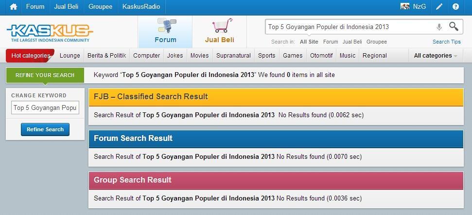 Top 5 Goyangan Populer di Indonesia 2013