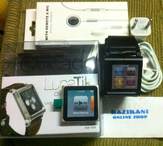 2nd ipod nano 6 fullset + iwatchz elemetal bonus banyak tinggal pake gan!!