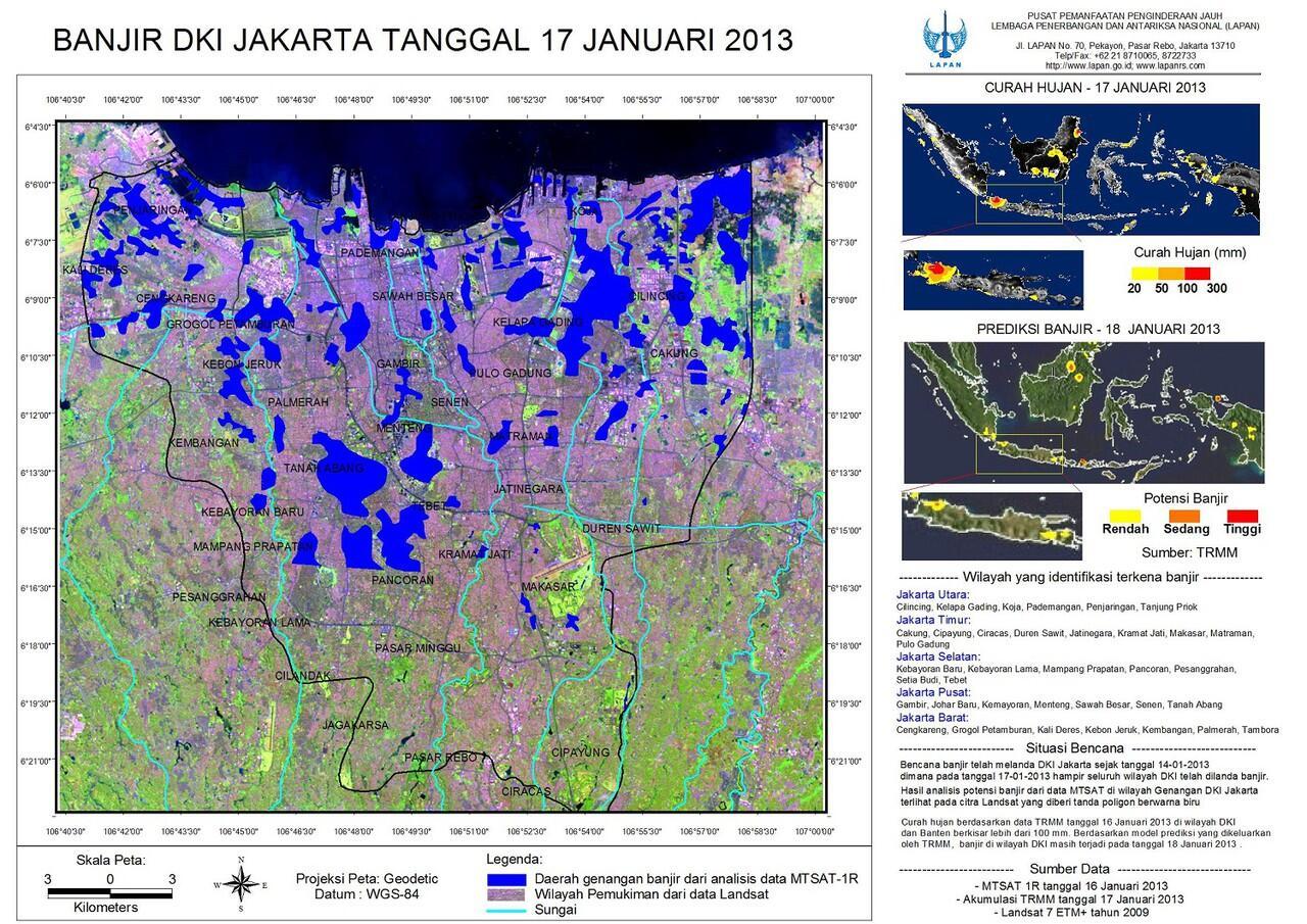 [KLARIFIKASI} HOT TRIT Membandingkan Banjir Jakarta Tahun ini dengan Tahun Lalu
