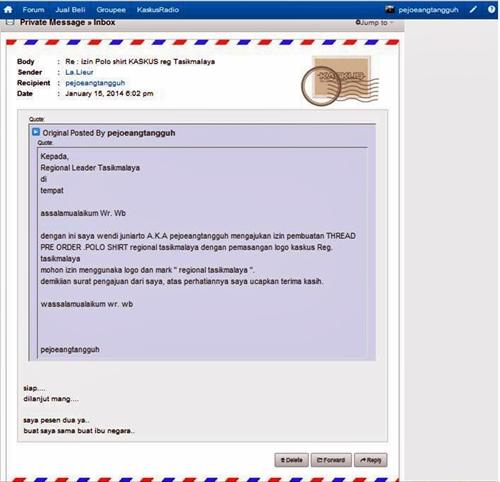 ## PRE ORDER - POLO SHIRT OFFICIAL REGIONAL TASIKMALAYA ##