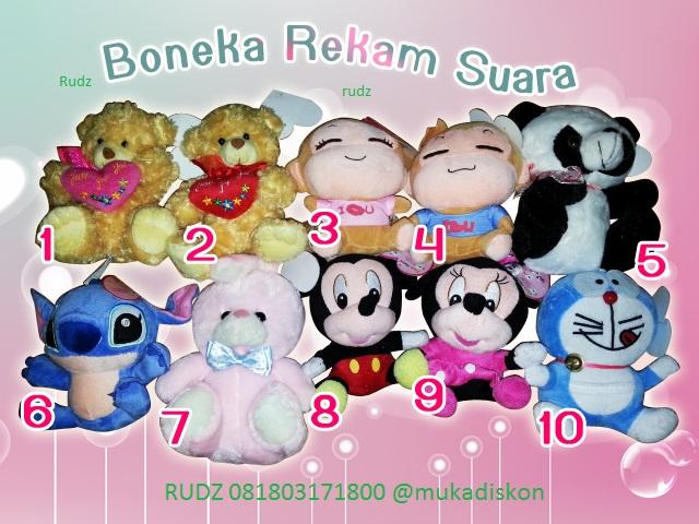 Terjual Boneka Rekam Suara ( Recorded Toys )