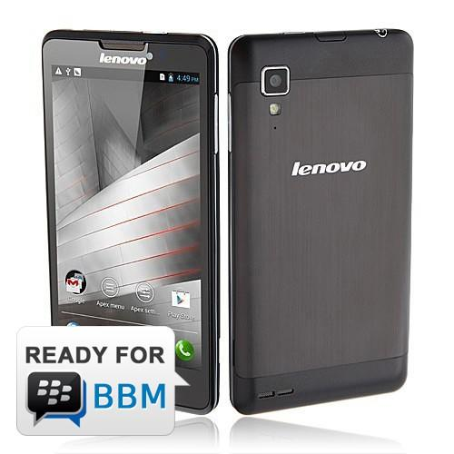 Lenovo P780 - Black | Android Jelly Bean (4.2), 5.0 inch HD disp
