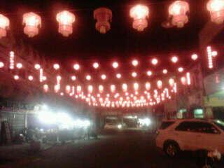 suasana imlek di chinatown pekanbaru