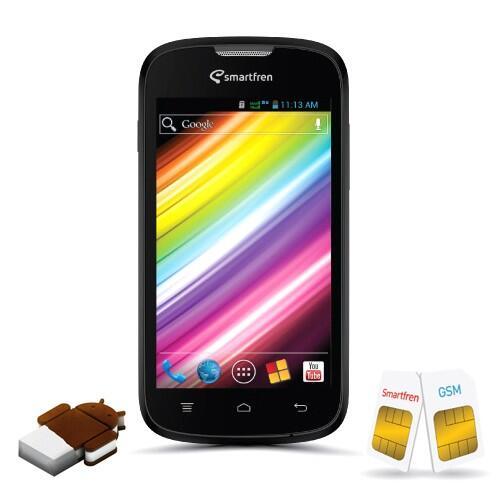 Smartfren Andromax C - 4 GB - Hitam