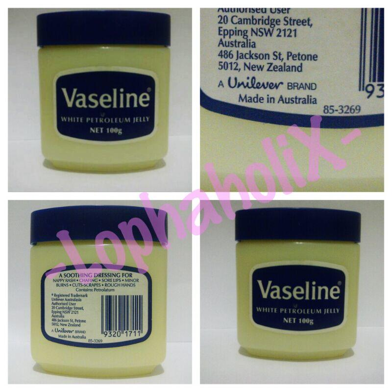 Terjual Vaseline Petroleum Jelly 100% Original (From Singapore, Made in USA)