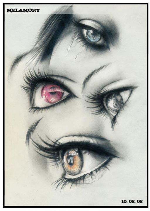 Pencil Drawing by Artist Olga Melamory Larionova