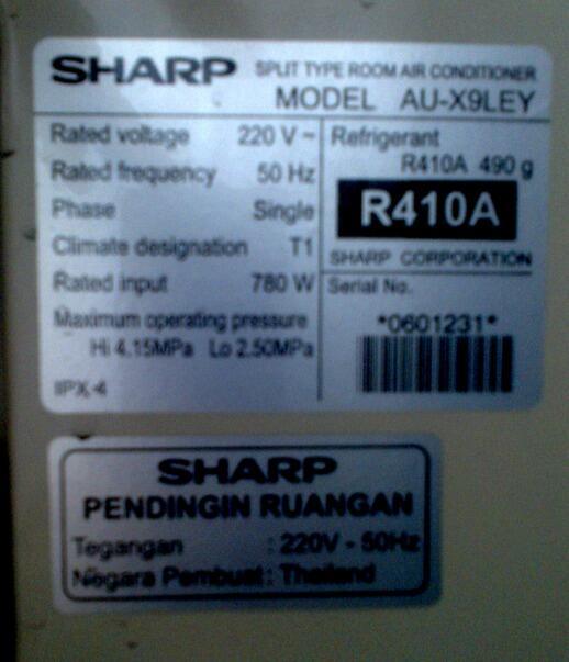 Terjual AC Sharp Eco Inverter 1PK Lowatt Muluuuus Murmerrr