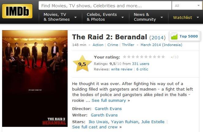Review & komentar dari Premiere The Raid 2 : Berandal