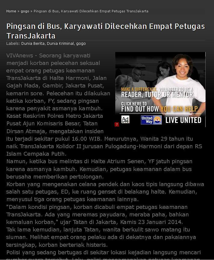 Lihat nih gan kelakuan petugas Transjakarta (Busway) !