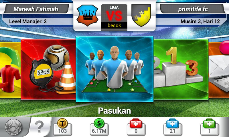 Token Top Eleven Football Manager, Express, Emblem & Jersey