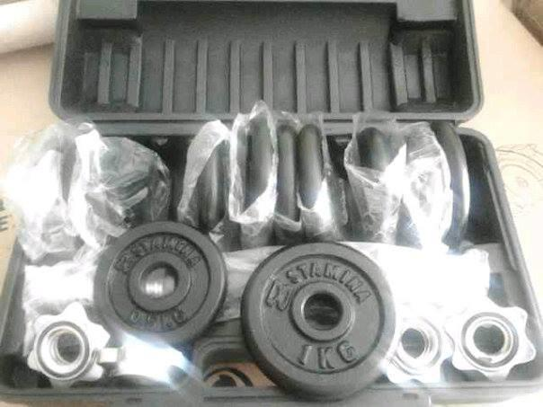 Dumbell Set Chrome/Black 10kg, 15kg, 20kg