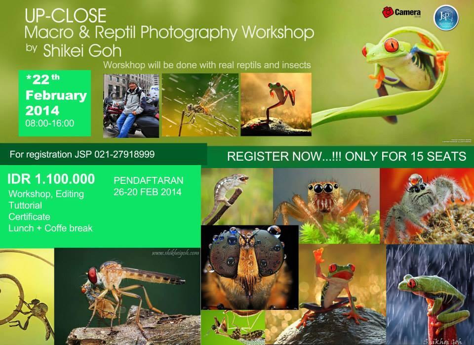 Workshop Macro photo dan reptil (Jakarta School of Photography)