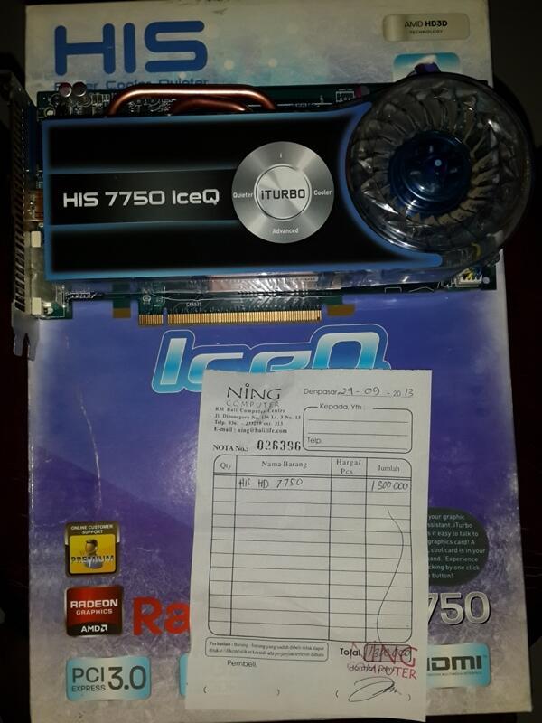 HIS HD7750 1GB DDR5