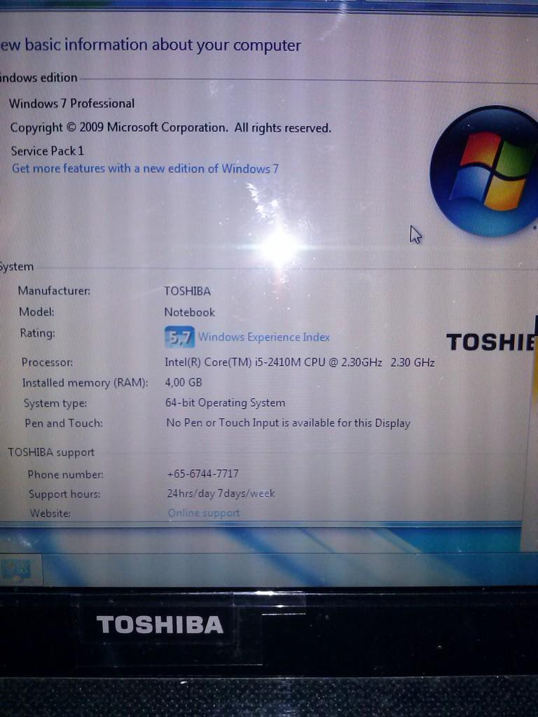 Toshiba Satellite L730 Core I5 Windows 7 ORI mulus