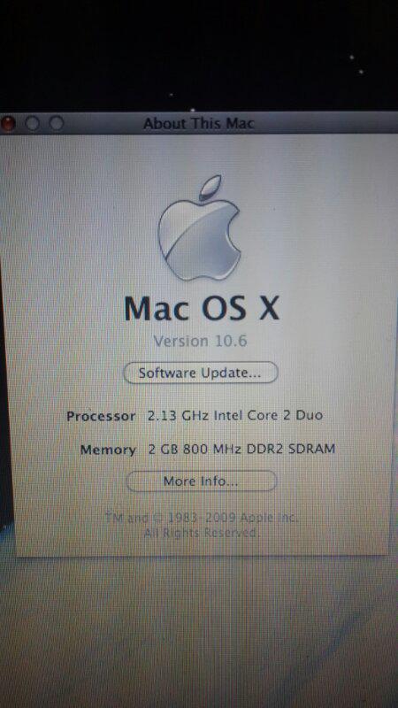 Macbook white 5.2 2009 second fullset oke banget