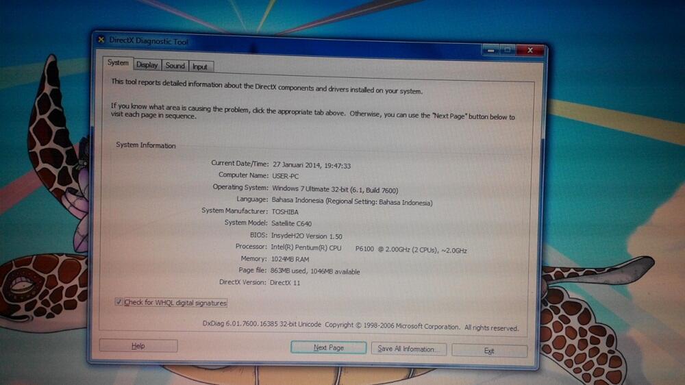 Toshiba Satellite C640 Seken Mantap Murah Bogor