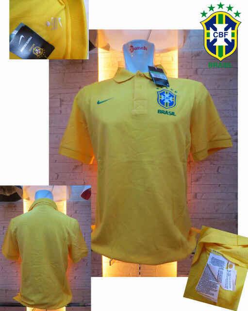 T-SHIRT POLO BRAZIL YELLOW-BLUE NEW