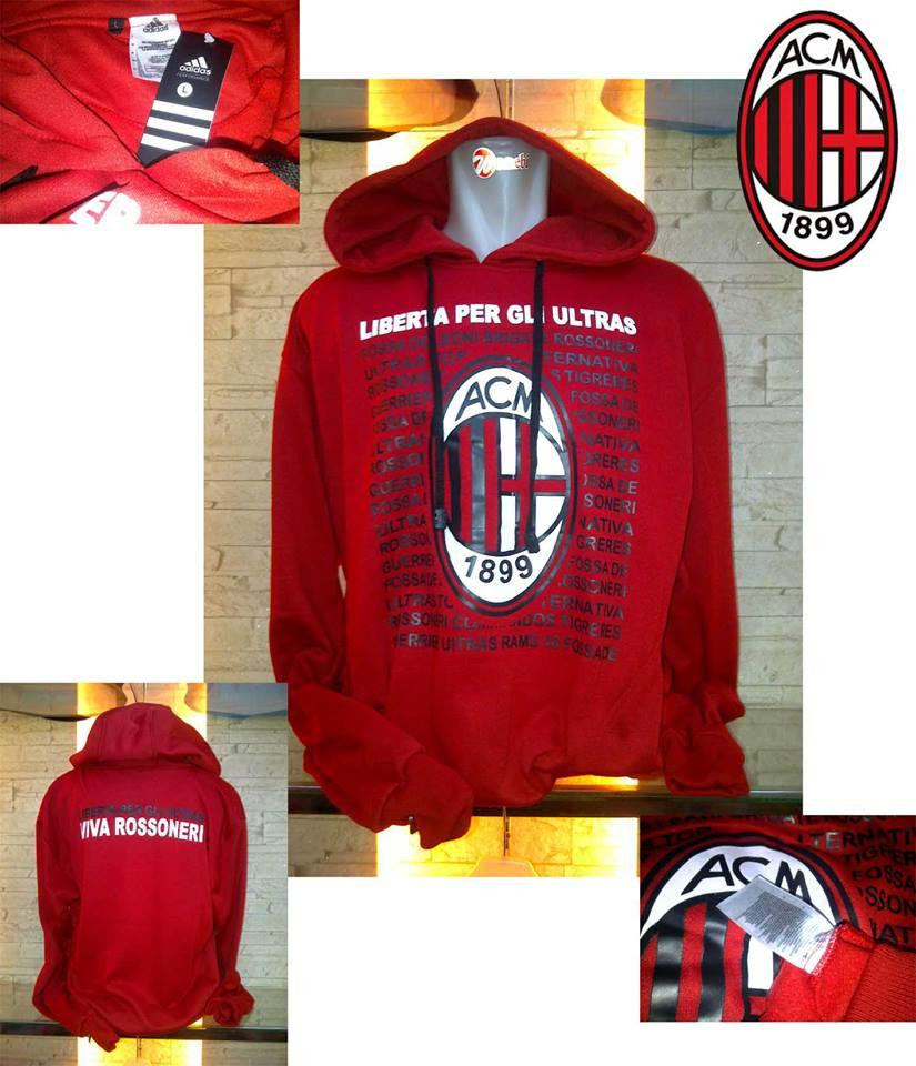 HOODIE AC MILAN ROSSONERI NEW COLLECTION