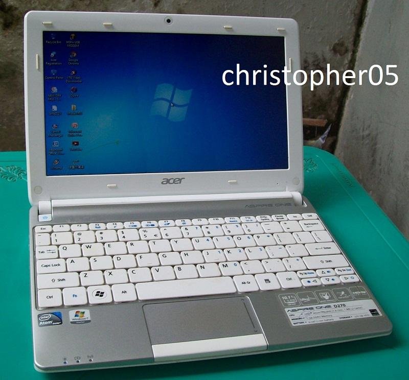 [Bandung] Netbook Acer D270, Intel ATOM N2600, RAM 1 GB, HDD 320GB, Windows 7 Ori
