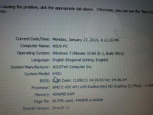 Asus K43U E450 14 AMD Dual Core Ram 4 Giga Hd 320 + Batre bagus = 2.200.000