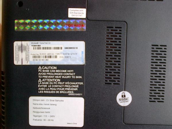 LAPTOP TOSHIBA L745 Core i3-2330M GAMING | 640GB | NVIDIA 1GB | 98% MULUS | SURABAYA