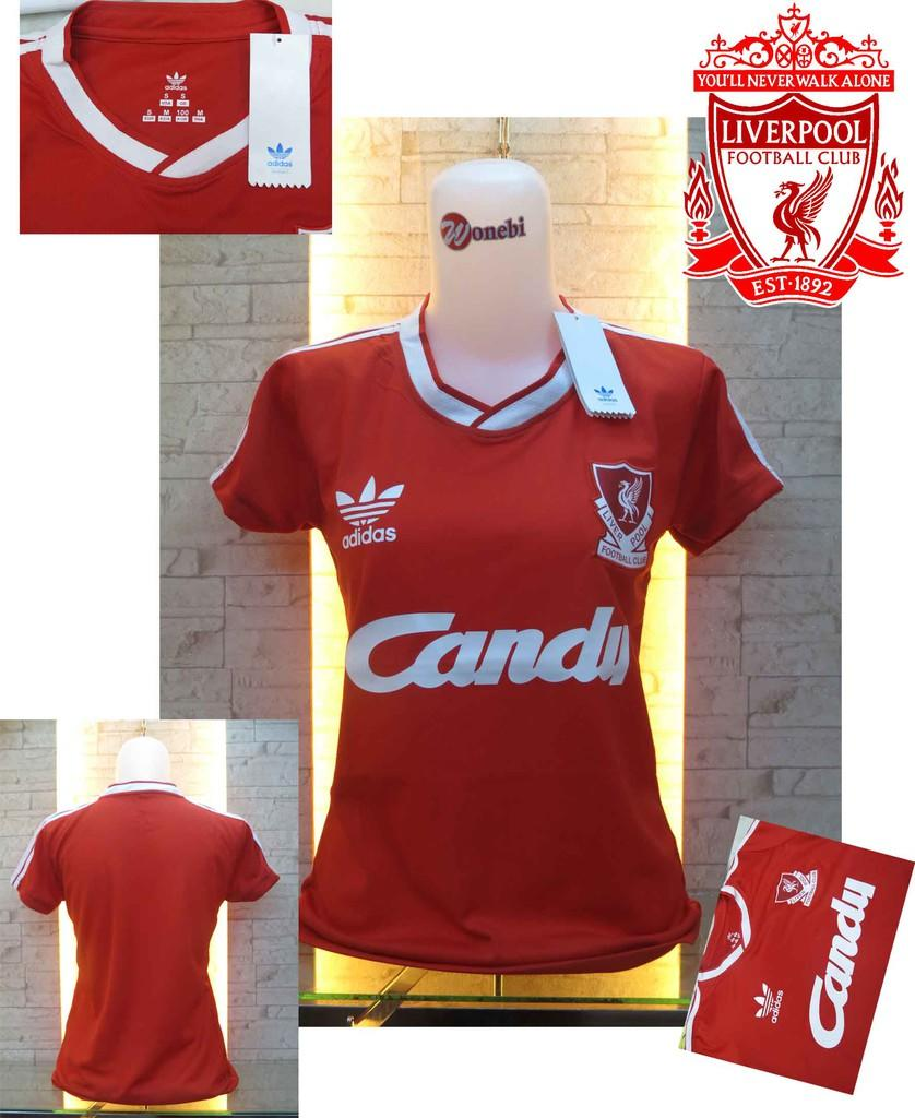 JERSEY LIVERPOOL LADIES CANDY 1980-1981 RETRO