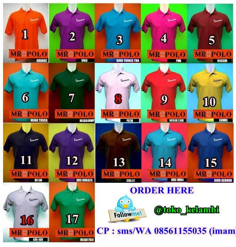 jual polo shirt produk lokal (VESPA,RALPHLAUREN,SUPERMAN)
