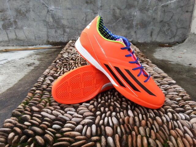 HOT Sepatu Futsal NEW Adidas F50 Adizero IV Rainbow,Orange,Biru Lionel Messi 10