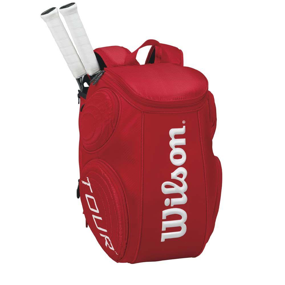 Tas Tenis wiLsOn TOUR mOuLdeD bAcKpAcK LARGE rEd 2014 LIMITED EdiTiON 100% ORIGINAL