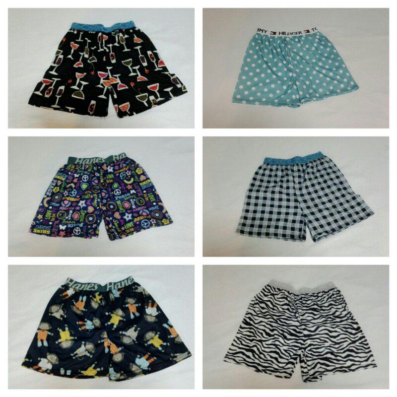jual celana boxer motifnya lucu import bangkok harga murah, cekidot!