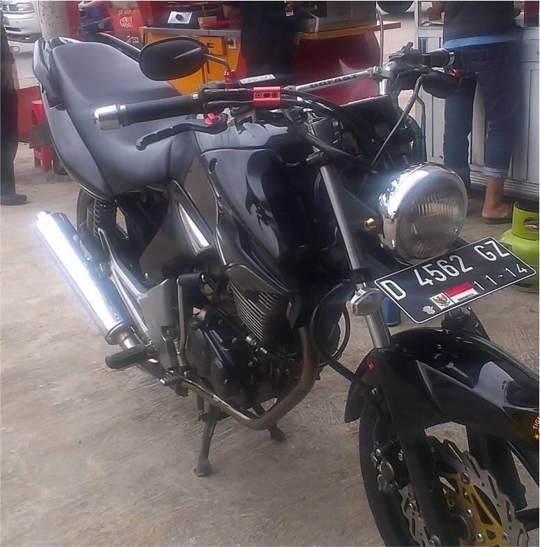 Braket Lampu Pesek Tiger Megapro scorpio vixion thunder ninja r