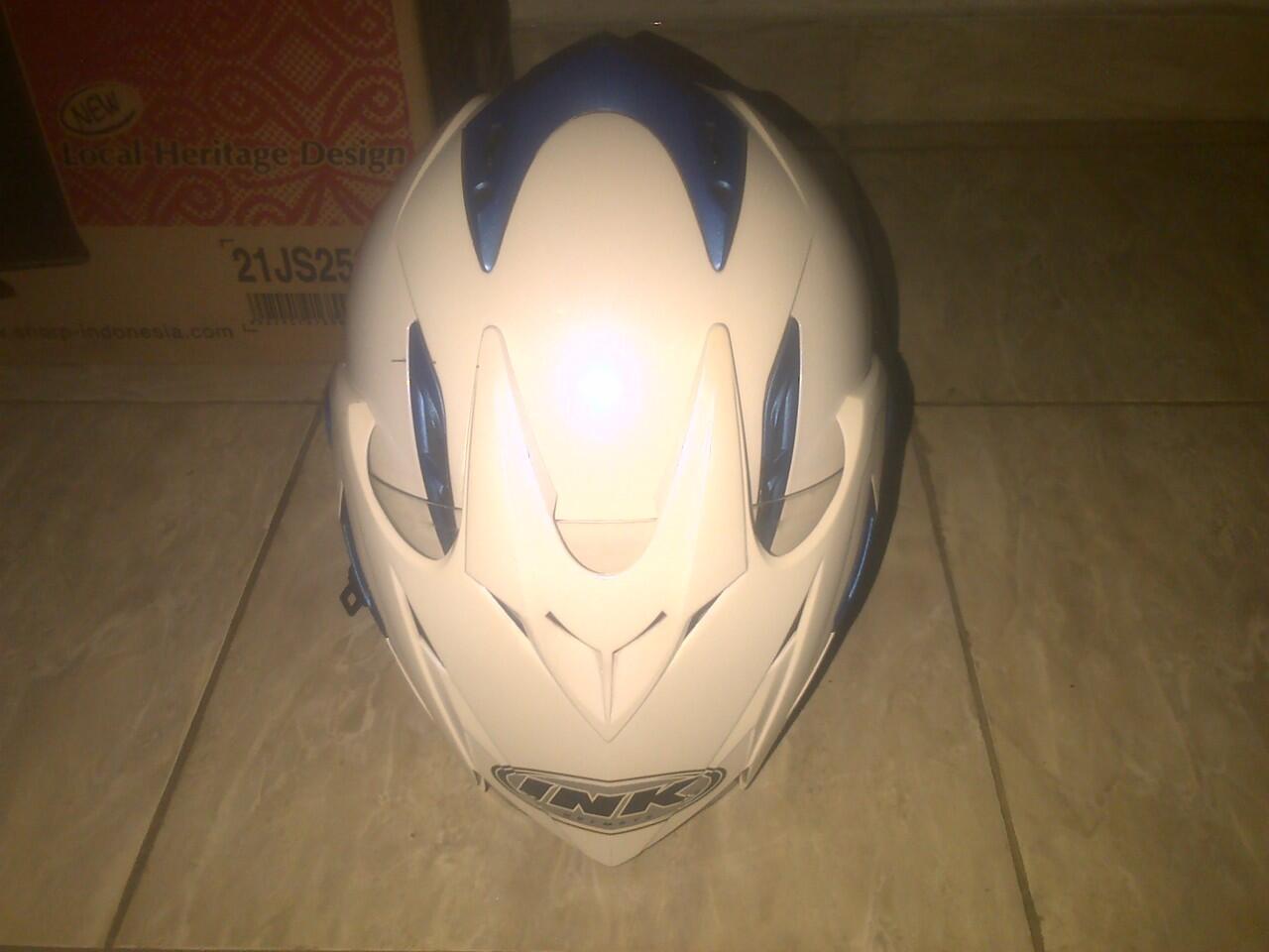 Juak helm INK T1 putih biru