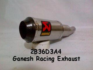 Knalpot Akrapovic GP M1 Rossi Short Buat Ninja 250cc, CBR, Vixion, DLL