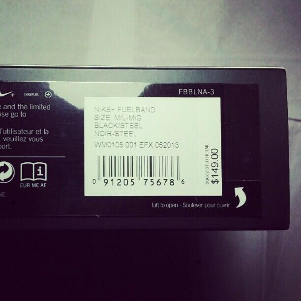 Nike+ Fuelband Black - 99% Perfect Fulset (size M/L)
