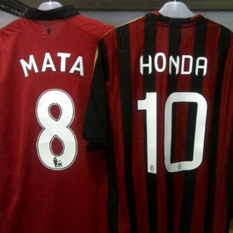 jersey MU home #8 MATA & Milan home #10 Honda. Murah!