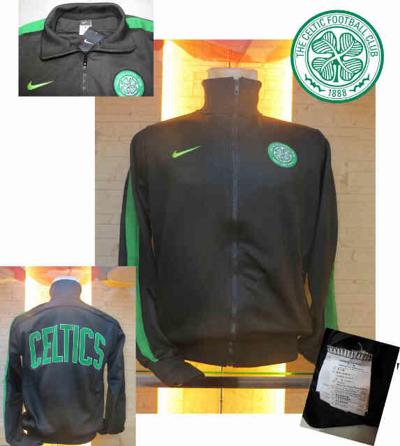 JAKET GO CELTIC GREEN AND BLACK