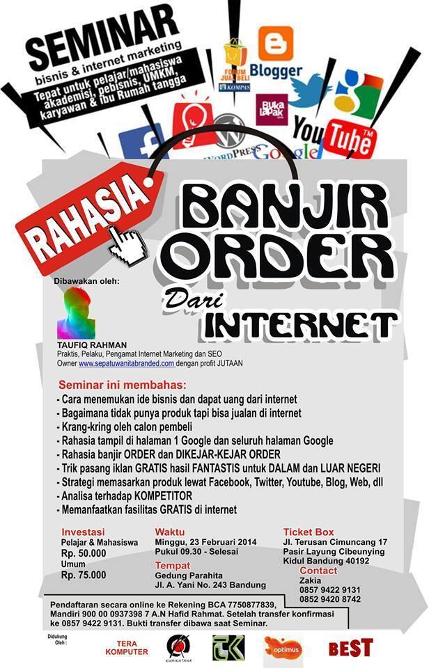 agan-agan ingin banjir order lewat internet