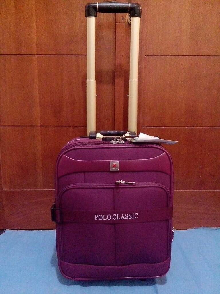 Terjual Tas Koper Kabin Polo Classic 18inci Hitam Dan Ungu