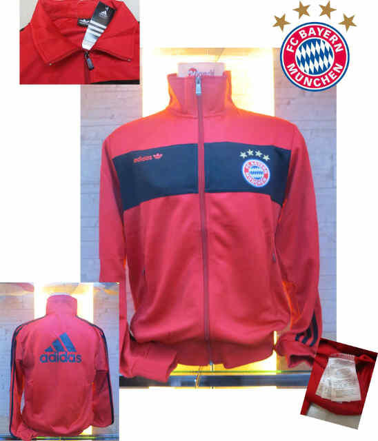 JAKET BAYERN MUENCHEN BLACK-RED NEW GO