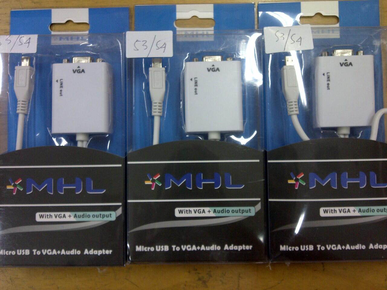 KABEL MHL VGA S2,S3,S4,NOTE8,CABLE MICRO USB-VGA,MIKRO USB TO PROYEKTOR LCD MONITOR