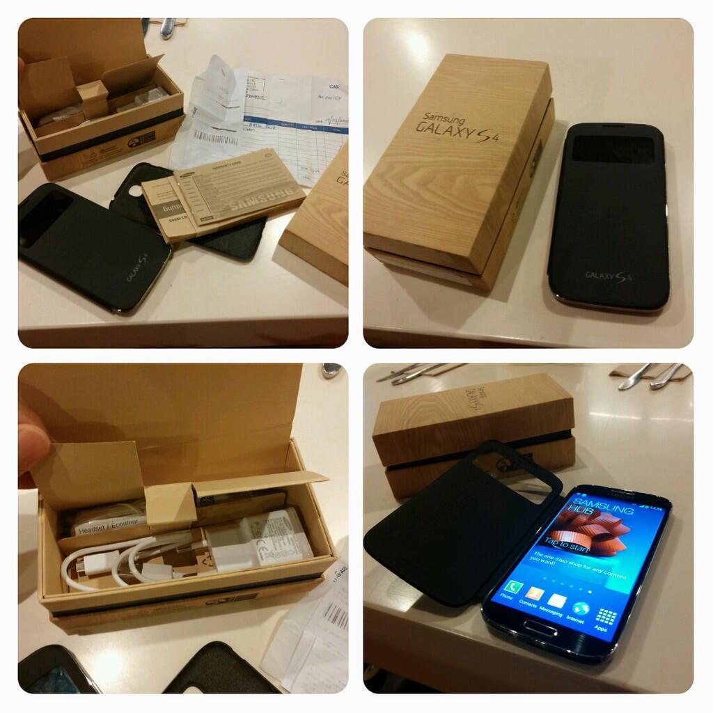 jual Samsung Galaxy S4 GT-I9500 Black,,Fullset,,99% Like new,,No,dent,,,no,boncel,,
