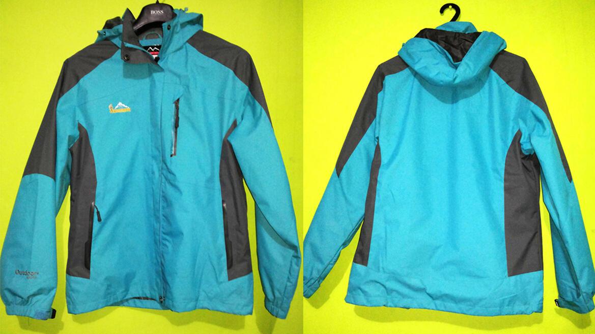 Jaket Outdoor BMEISHU Waterproff Size Small warna Hijau Tosca (Langka)