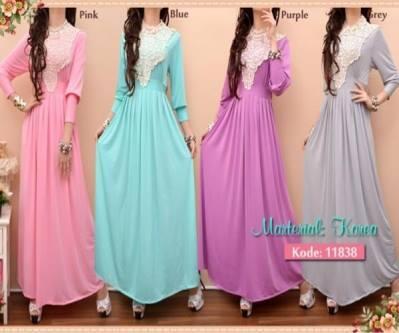 Fashion Long Dress Spandek korea