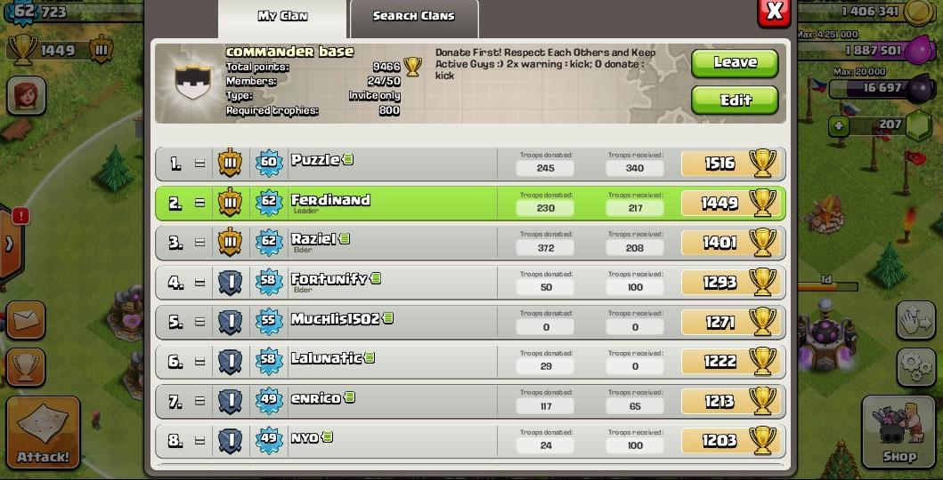 Clash Of Clans - Commander Base (Join With Our Clan)
